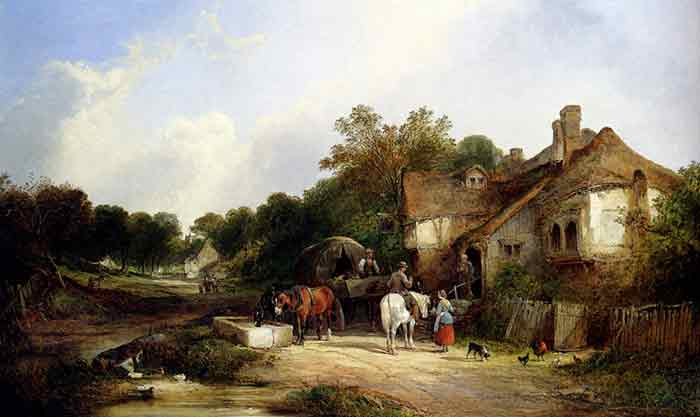Oil painting for sale:The Road Side Inn, Somerset