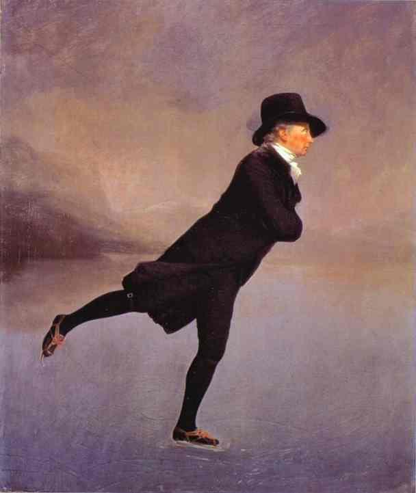 Oil painting:Portrait of The Reverend Robert Walker Skating. 1784