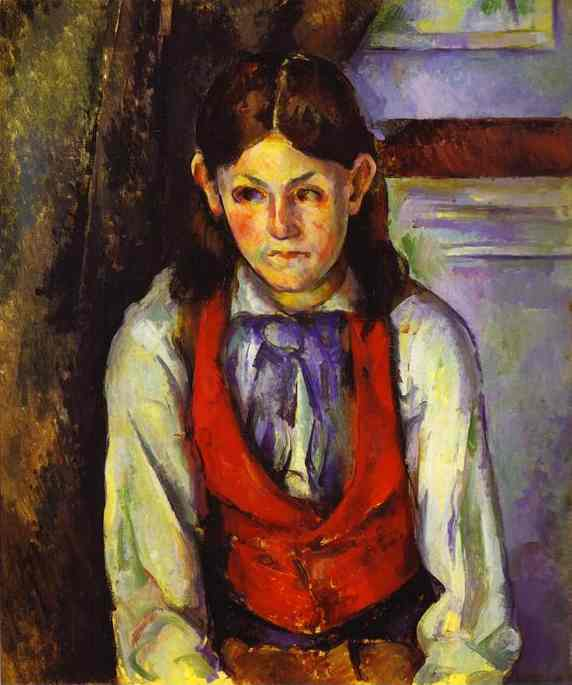 Oil painting:Boy in a Red Waistcoat. 1888-1890