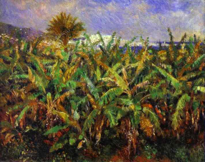 Oil painting:Field of Banana Trees. 1881