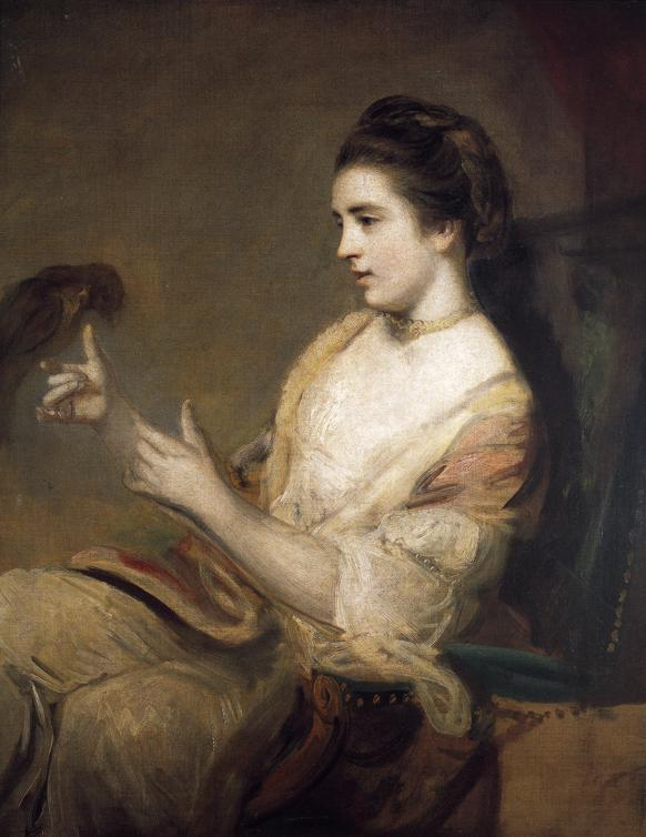 Oil painting:Kitty Fisher. 1763
