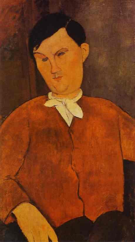 Oil painting:Monsieur Deleu. 1916