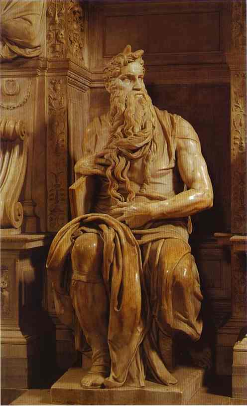 Oil painting: Moses. c.1513