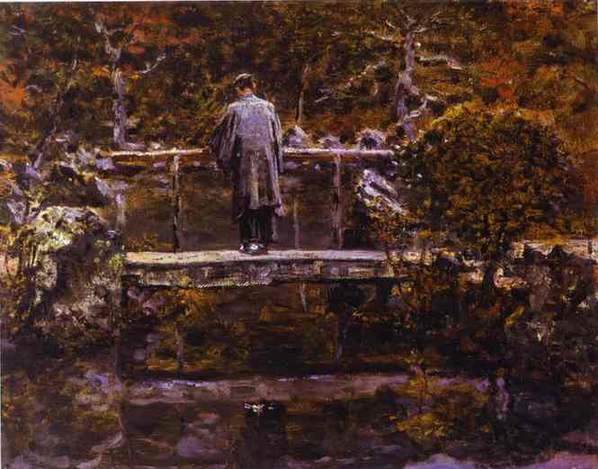 Oil painting:On the Bridge.