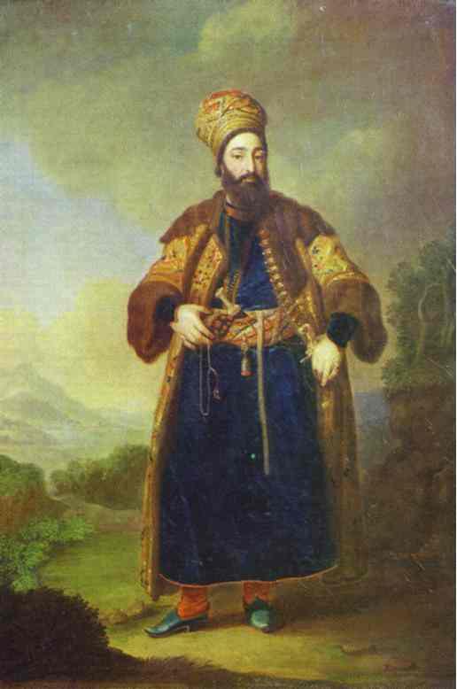 Oil painting:Portrait of Murtaza-Kuli-Khan. Study. 1796