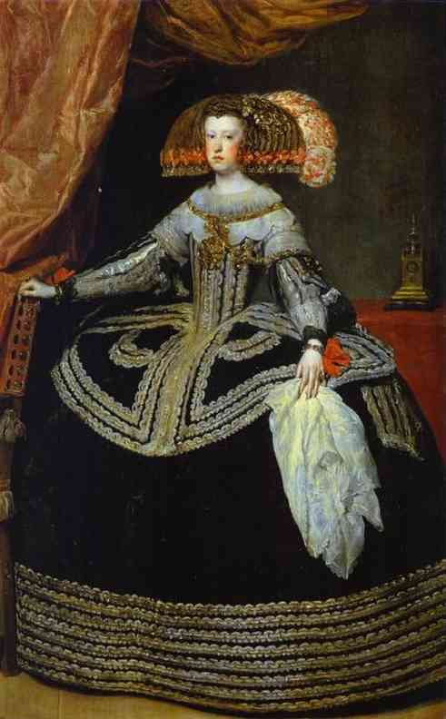 Oil painting:Queen Mariana. 1652