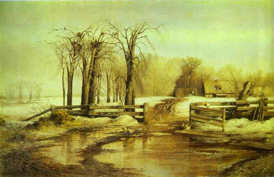 Oil painting:Spring Day. 1873