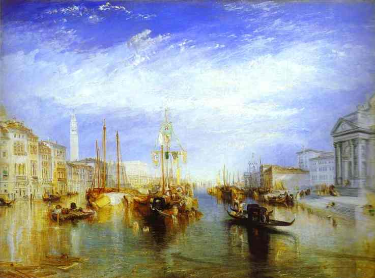 Oil painting:The Grand Canal, Venice. 1835