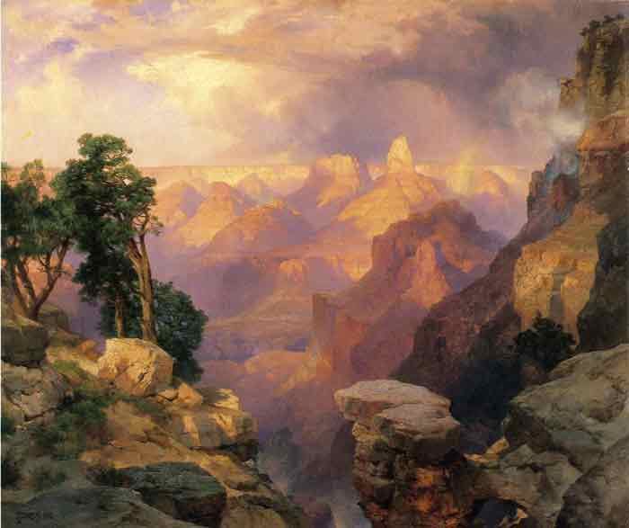 Oil painting for sale:Grand Canyon with Rainbows, 1912
