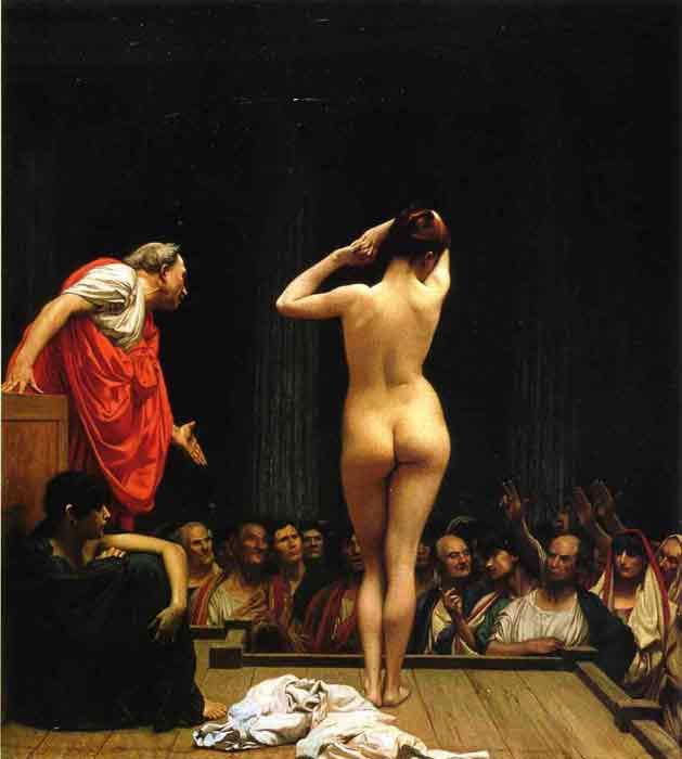 Oil painting for sale:Selling Slaves in Rome, 1886