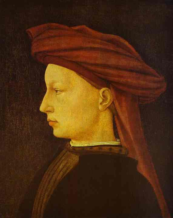 Oil painting:Portrait of a Young Man. c.1425