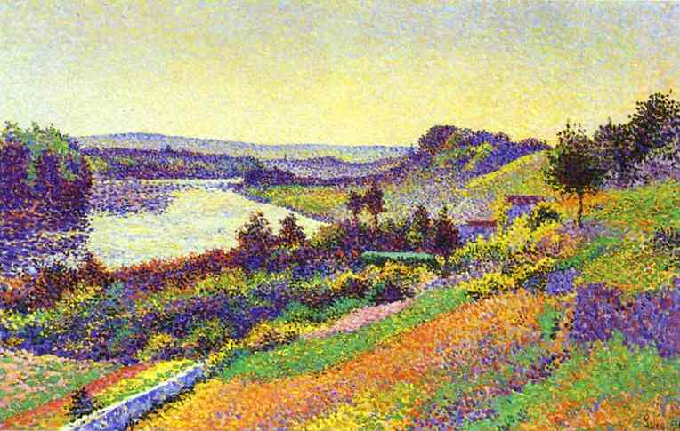 Oil painting:The Seine at Herblay. 1890