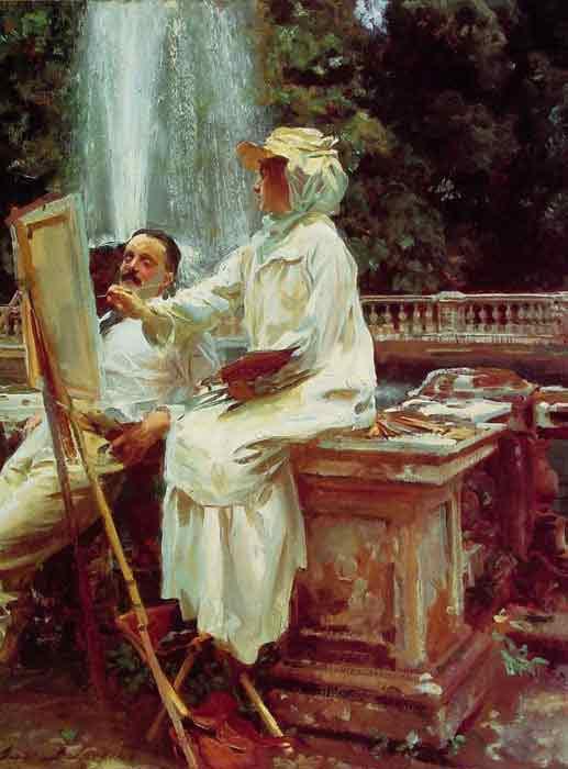 Oil painting for sale:The Fountain, Villa Torlonia, Frascati ItalyN?1907