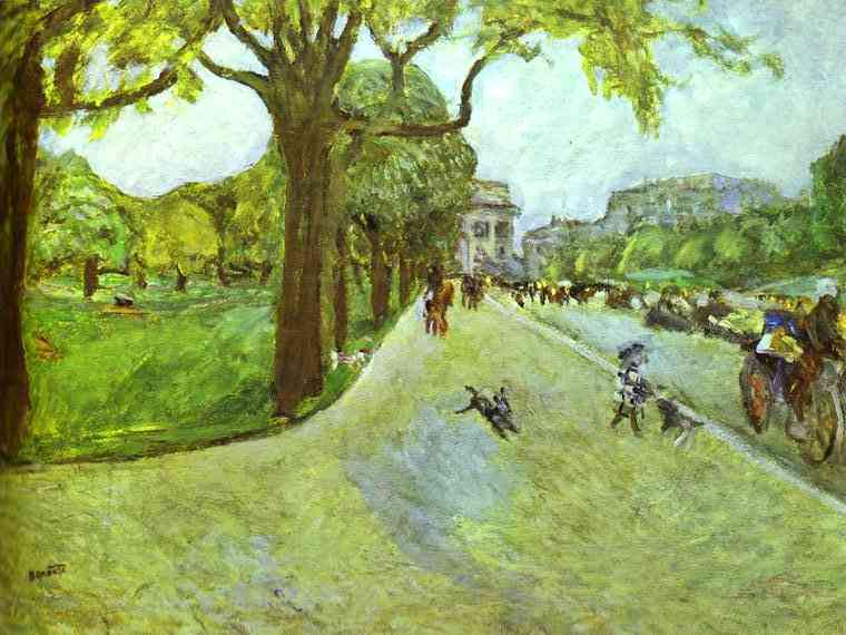 Oil painting:Avenue du Bois in Boulogne. 1912
