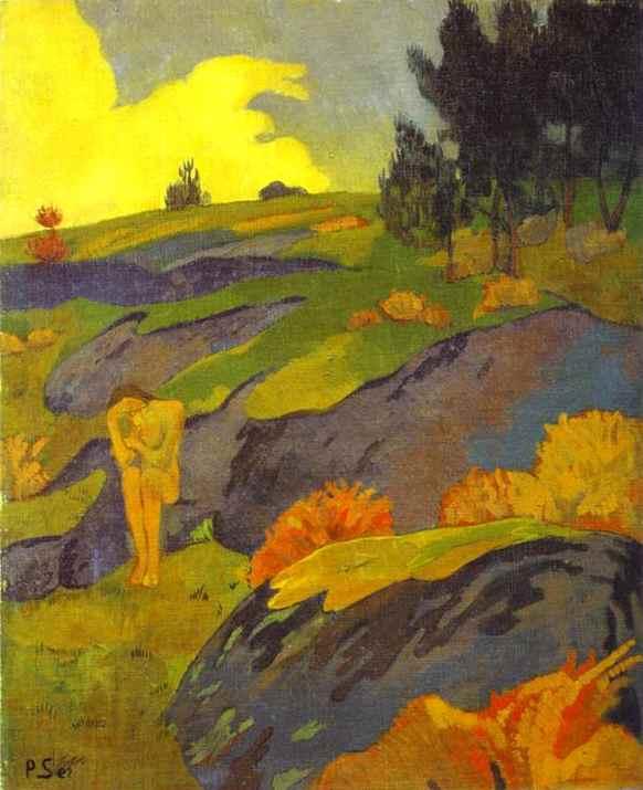 Oil painting:Breton Eve (Melancholy)/Eve Bretonne ou M