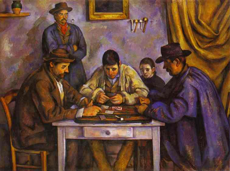 Oil painting:Card Players. 1890