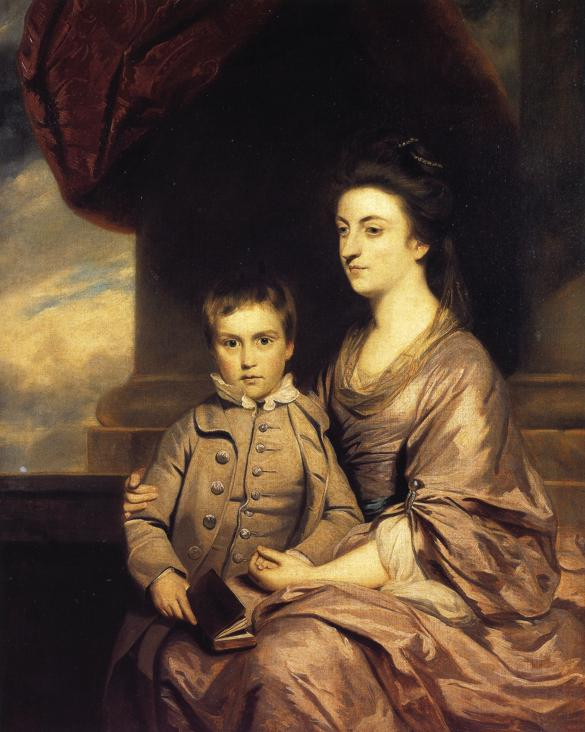 Oil painting:Elizabeth, Countess of Pembroke and Her Son. 1764