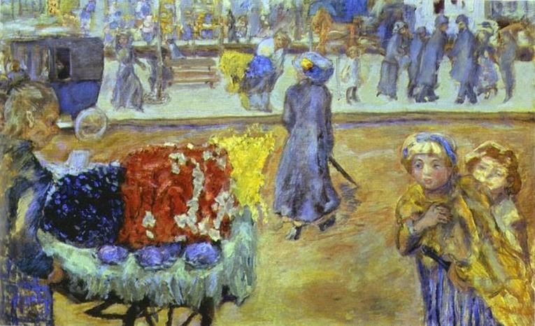 Oil painting:Evening in Paris. 1911
