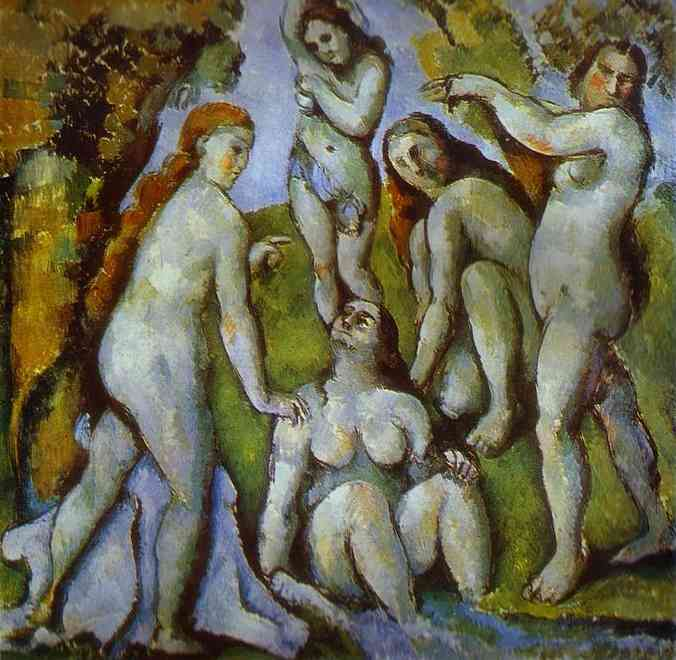 Oil painting:Five Bathers. 1885
