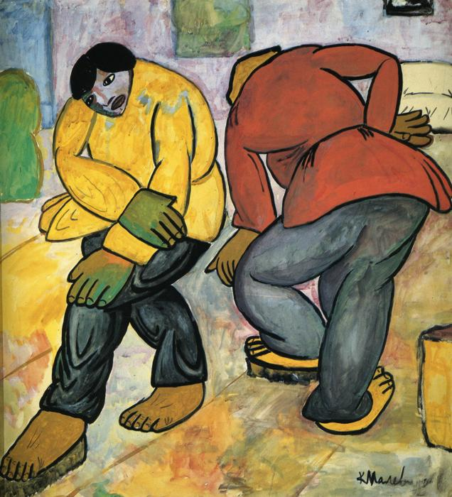 Oil painting:Floor Polishers. 1911