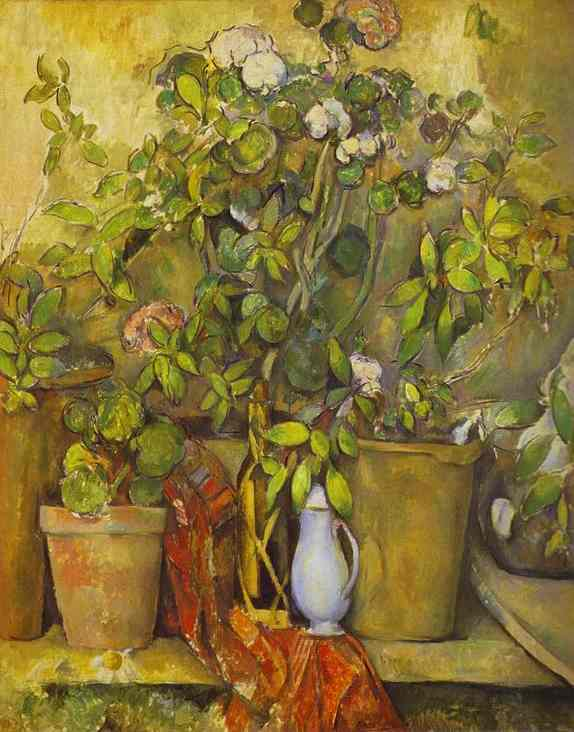 Oil painting:Flower Pots. 1888