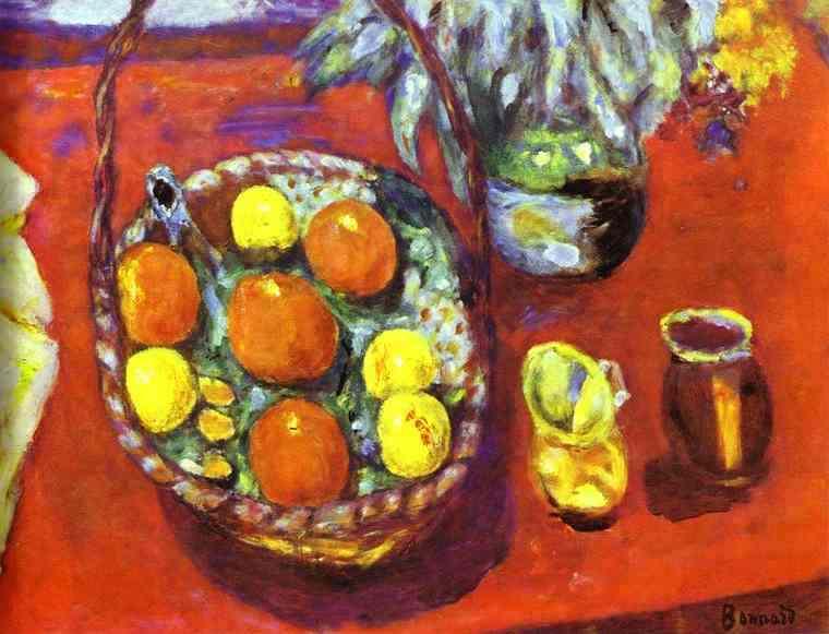 Oil painting:Fruit Basket. 1929