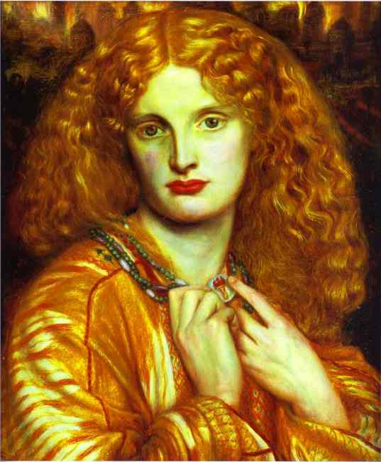 Oil painting:Helen of Troy. 1863