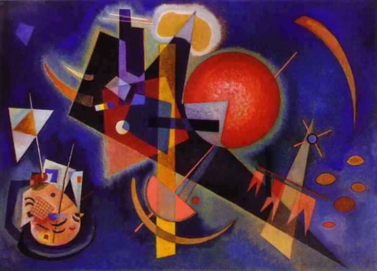 Oil painting:In Blue. 1925