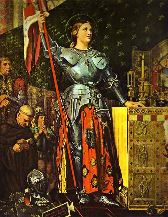 Oil painting:Joan of Arc on Corronation of Charles VII in the Cathedral of Reims. 1854
