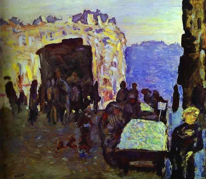 Oil painting:La Marchande des quatre-saisons. 1899