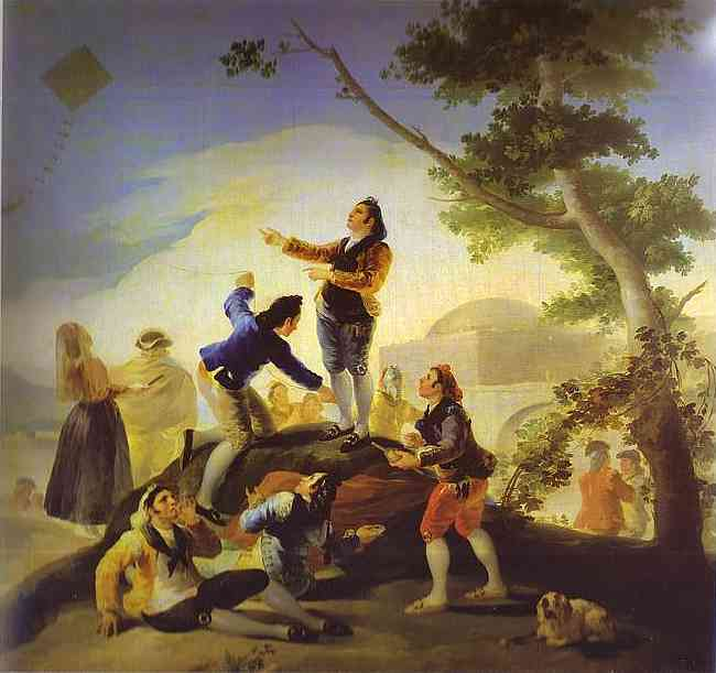 Oil painting:La cometa (The Kite). 1778