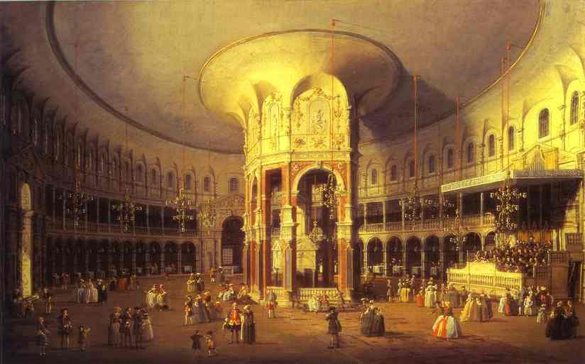 Oil painting:London: Ranelagh, Interior of the Rotunda. 1754