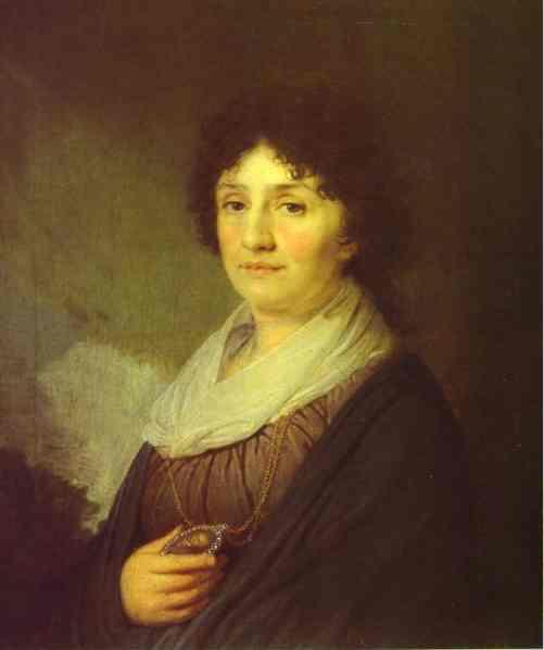 Oil painting:Portrait of E. N. Davydova. 1796