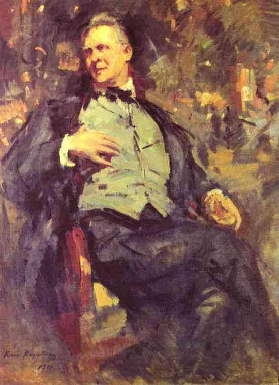 Oil painting: Portrait of Fedor Chaliapin. 1921