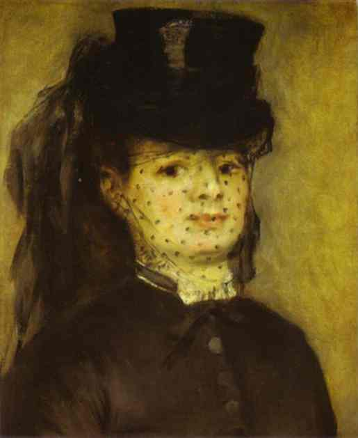 Oil painting:Portrait of Mme. Darras. c.1873
