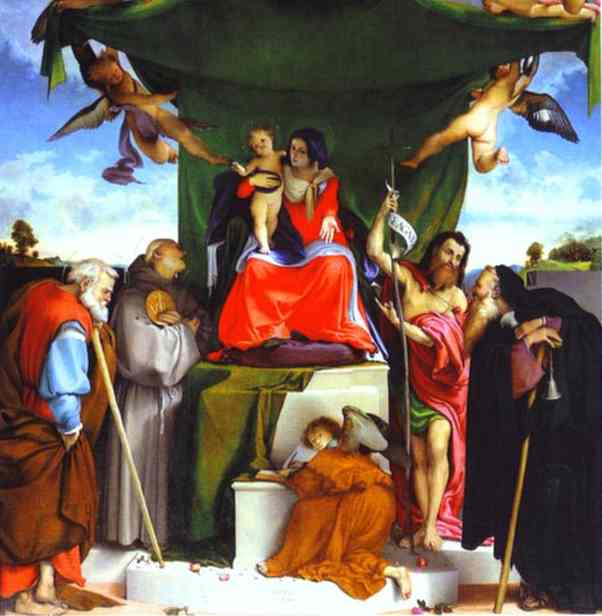 Oil painting:San Bernandino Altarpiece. 1521