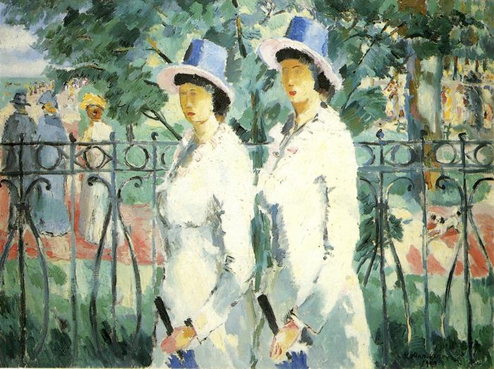 Oil painting:Sisters. 1910