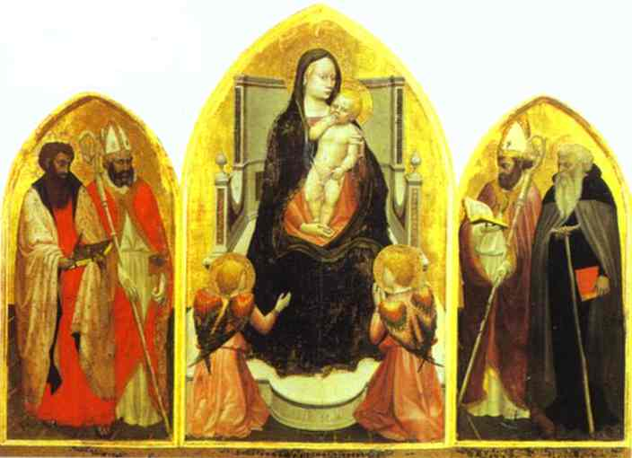 Oil painting:St. Giovenale Triptych. 1422