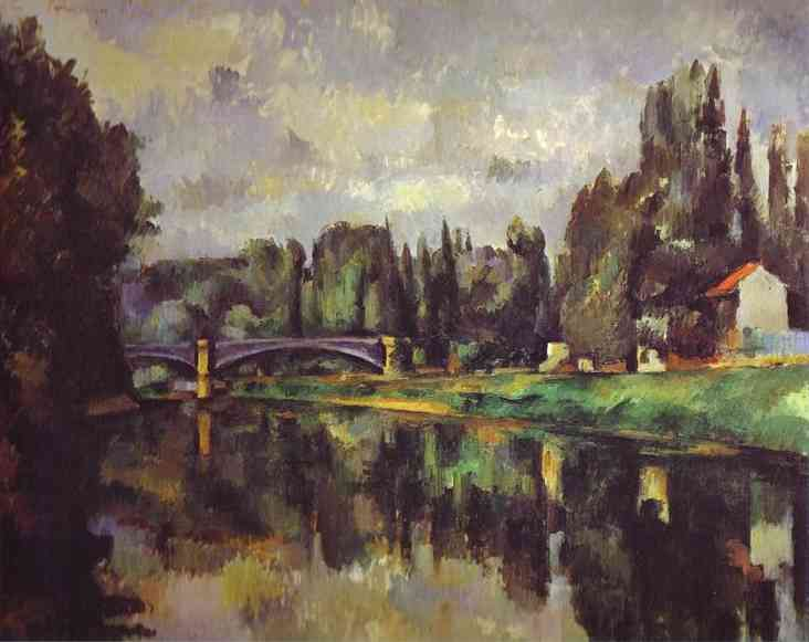 Oil painting:The Banks of the Marne. 1888