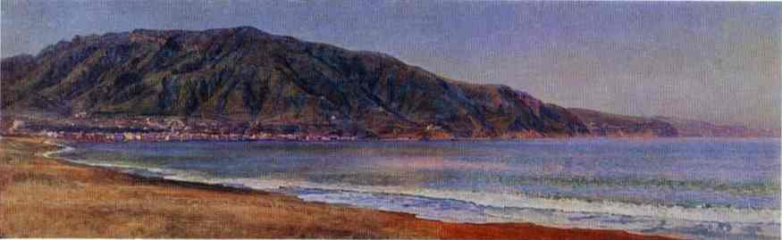 Oil painting:The Bay of Naples Near Castellmare. 1846