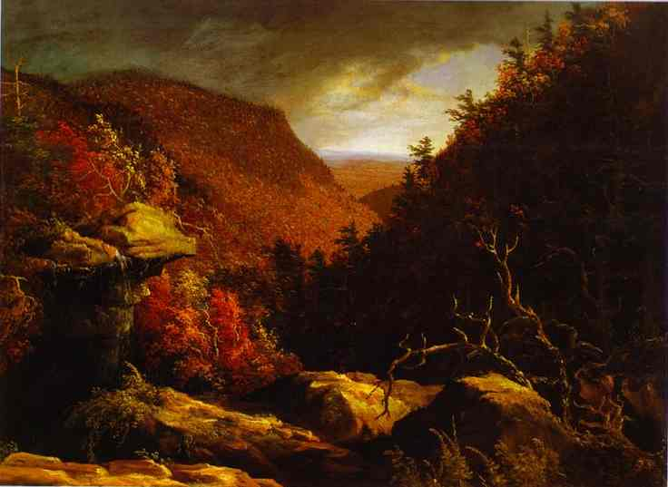 Oil painting:The Clove, Catskills. c.1827