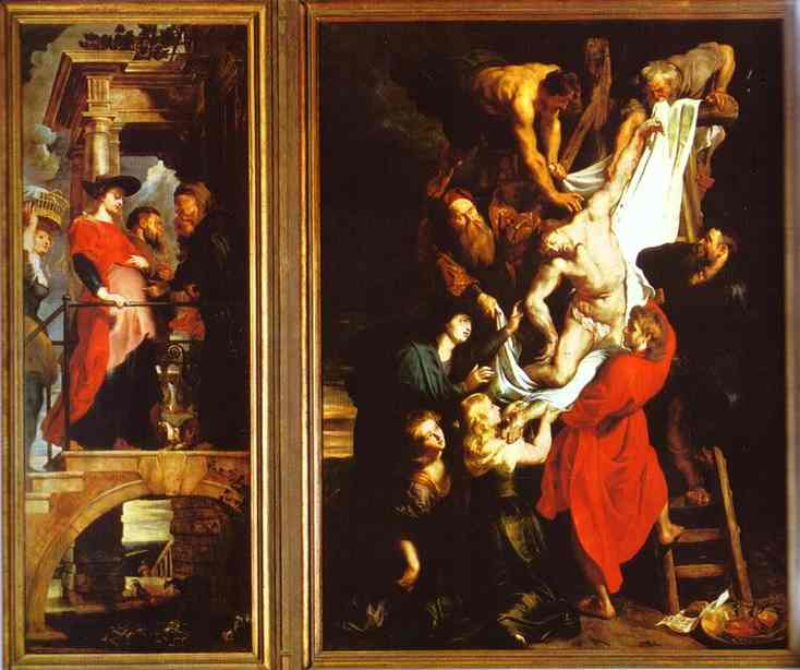 Oil painting:The Descent from the Cross. 1611