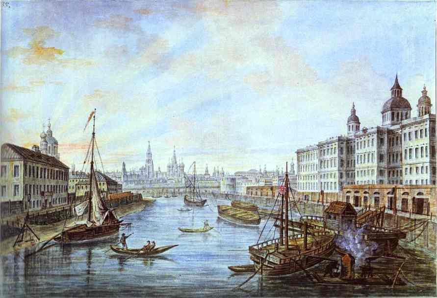 Oil painting:The Foundling Hospital in Moscow.1800