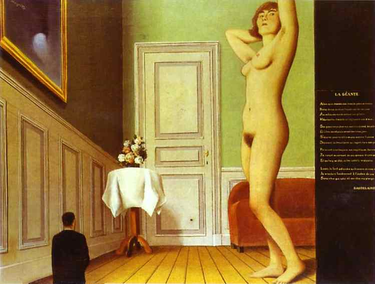 Oil painting:The Giantess. 1929