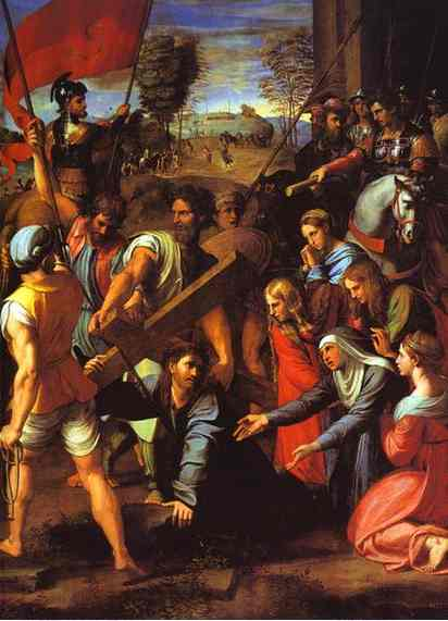 Oil painting:The Hill of Calvary. c.1515