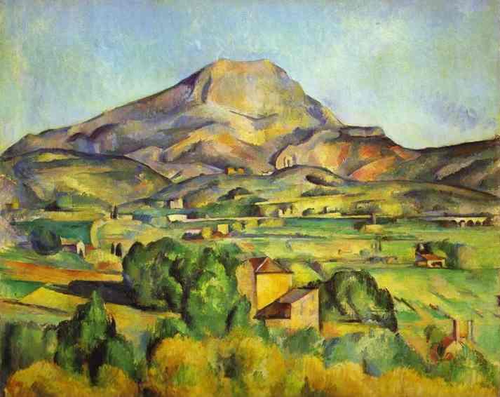Oil painting:The Mount Sainte-Victoire. 1885