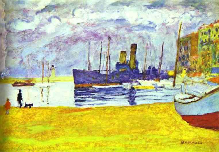 Oil painting:The Port in Cannes. 1926