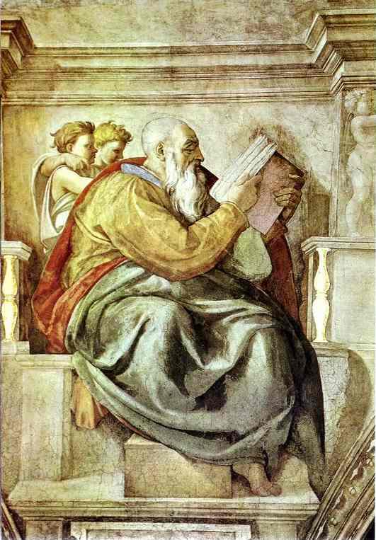 Oil painting:The Prophet Zechariah. 1508