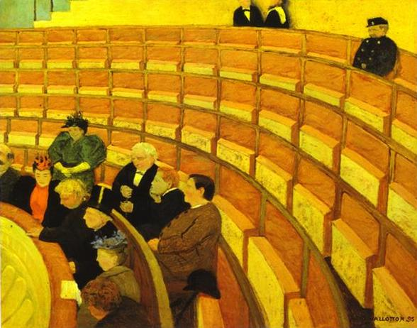 Oil painting:The Third Gallery at the Theatre du Chalet/Troisi