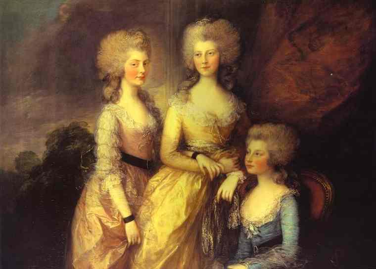 Oil painting:The Three Elder Princesses. 1784